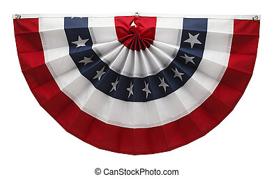 American Bunting - Stars and Stripes USA Pleated Bunting...