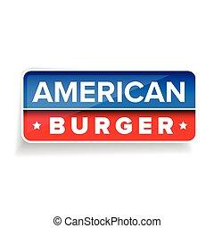 American burger vector sign