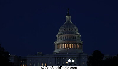 American Capital Building in Washington DC of illuminated ...