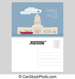 American capitol vector illustration. Design element for...