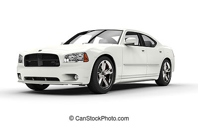 American Car - white