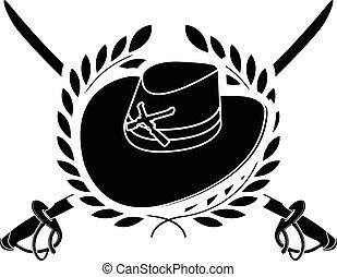 american cavalry. stencil. second variant