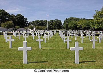 American Cemetery. - American war cemetery at Madingley in ...