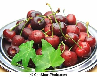 American cherry - I put American cherries in a tray and...