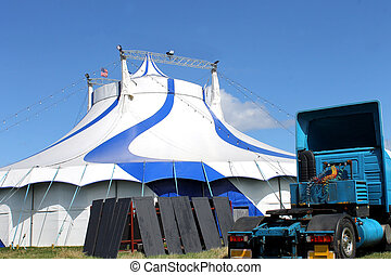 American Circus tent and truck