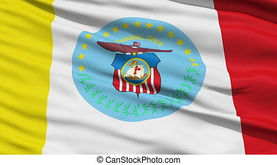 American City Flag of Columbus - Columbus Waving American...