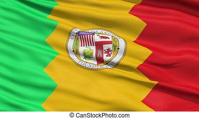 American City Flag of Los Angeles - LA Los Angeles Waving...