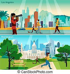 American Cityscapes Compositions Set - American Cityscapes...