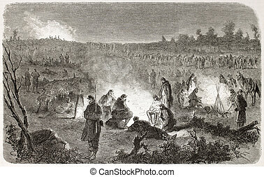 Fredericksburg - American civil war: Federal army encampment...