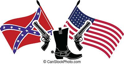 american civil war. stencil. fifth variant.