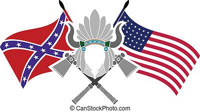american civil war. stencil. fourth variant. vector illustration