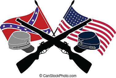 American Civil War. stencil. second variant
