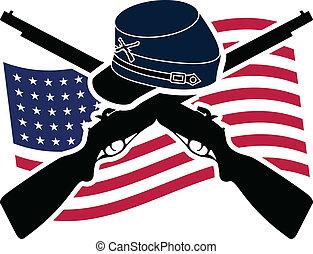 American Civil War. Union. Stencil