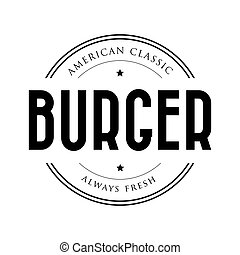 American Classic Burger vintage stamp