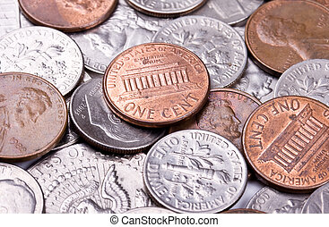 American coin background
