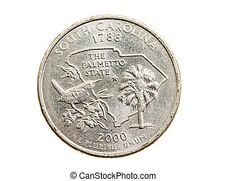 American coin (isolated)