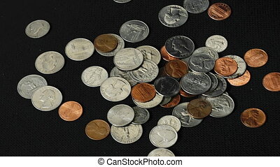 American Coins Pile Up - A bunch of American coins pile up...