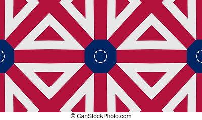 American color pattern background. Seamless loop.