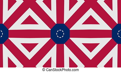 American color pattern background. Seamless loop.