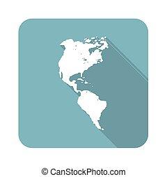 American continent icon