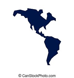 american continent map icon