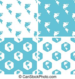 American continents patterns set