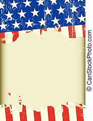 american cool dirty background - A US grunge flag with a...
