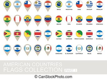 American Countries Flags Collection, Part 1