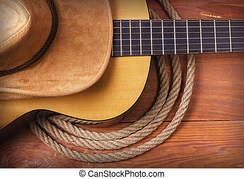 American Country music with guitar
