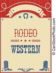 American cowboy rodeo poster for text