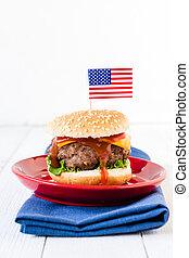 American cuisine - American mini beef burgers with cheese ...