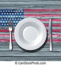 American Cuisine - American cuisine food concept as a place...