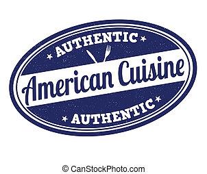 American cuisine stamp - American cuisine grunge rubber...