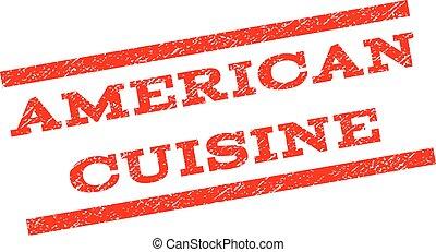American Cuisine Watermark Stamp