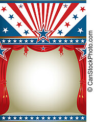American culture - American background with curtains for...