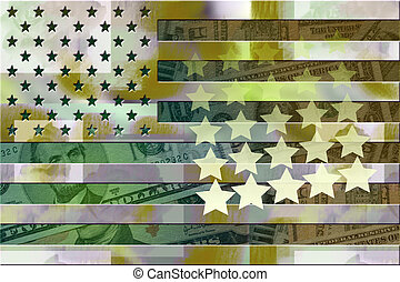 American Defense Funding - Military styled american flag...