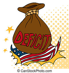 American Deficit - An image of a giant deficit bag crashing...