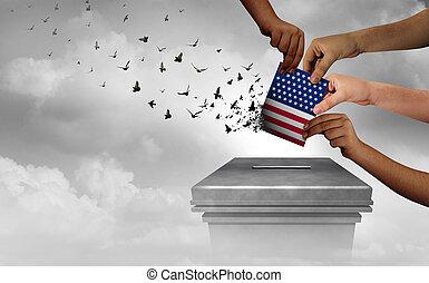 American Democracy Concept