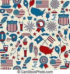 American design seamless pattern.