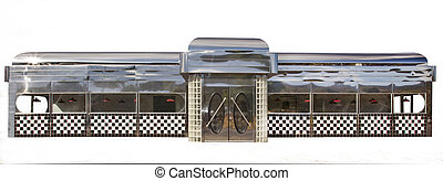 American Diner on White