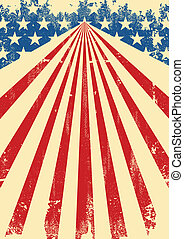 American dirty flag background