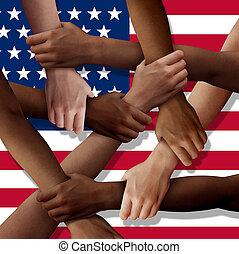 American Diversity Teamwork