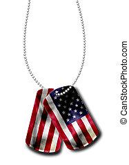 American Dog Tag - American military dog tags identity...