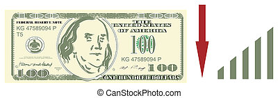 American dollar and colored signs