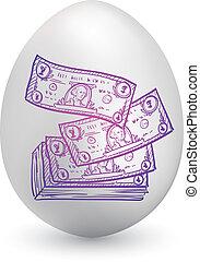 American dollar easter egg