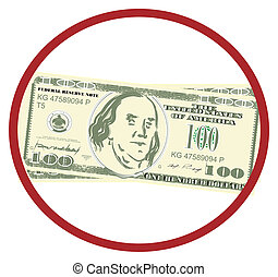 American dollar on red sign