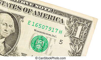 American dollar (one) close-up
