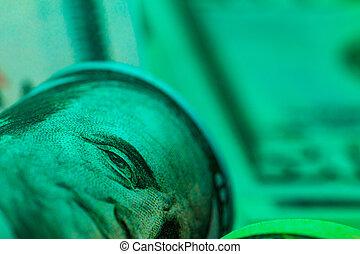 American dollar usd banknotes stack close up