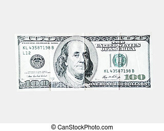 american dollars money on the white background