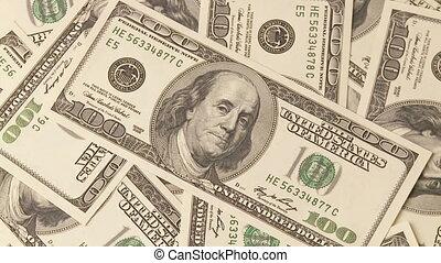 American dollars - Full frame video shot of American dollars...